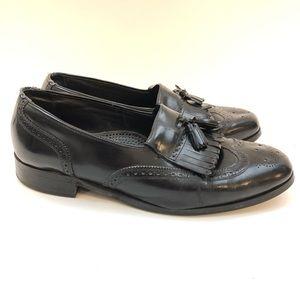Florsheim 11 D Black Leather Loafers